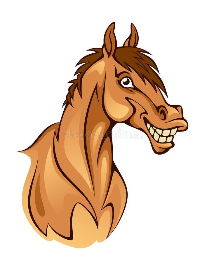 Смешная голова лошади иллюстрация штока
