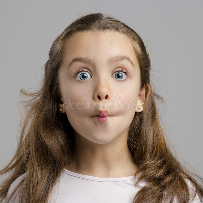 смешная девушка немногая стоковая фотография