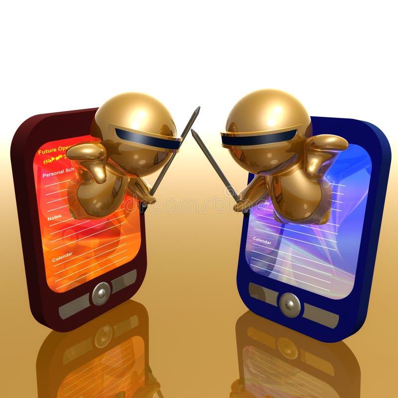Смешная икона 3d с устройством pda бесплатная иллюстрация