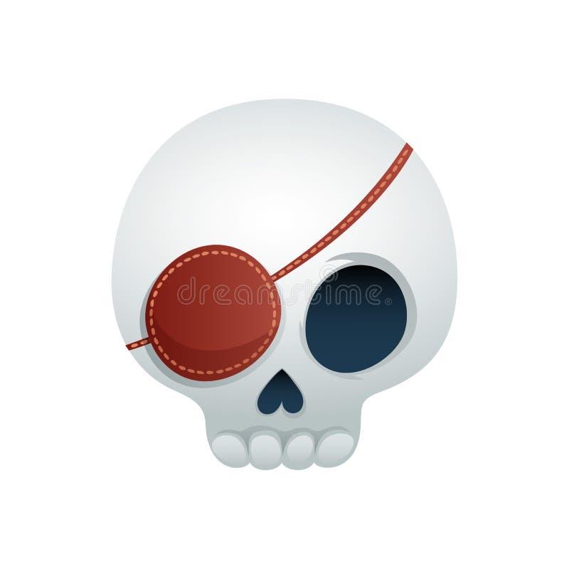 Смешная иллюстрация вектора черепа - пират иллюстрация штока