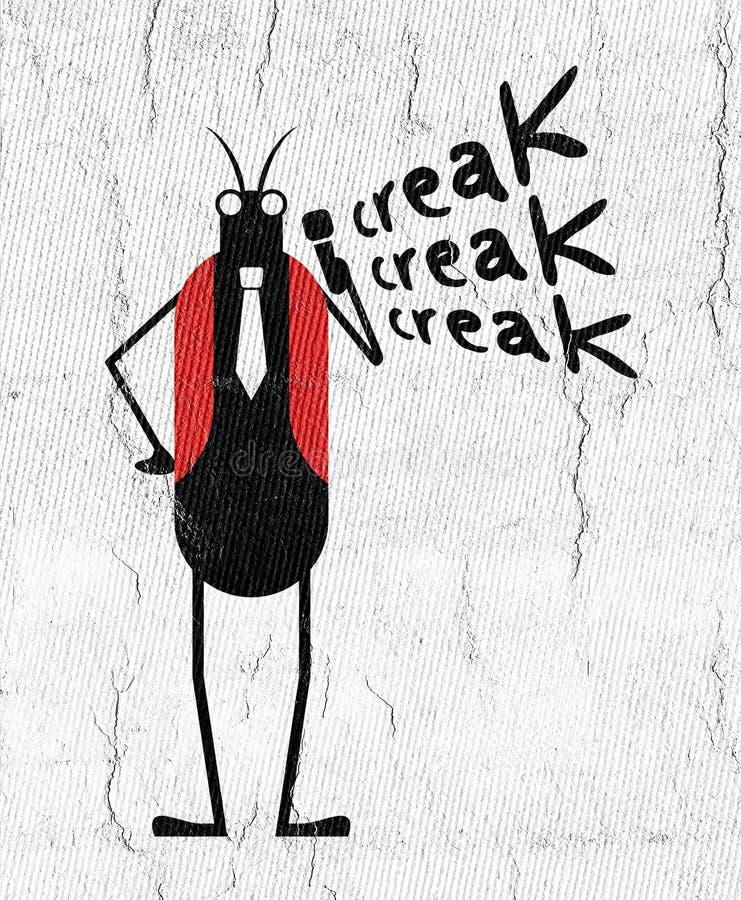Смешная иллюстрация насекомого сверчка бесплатная иллюстрация