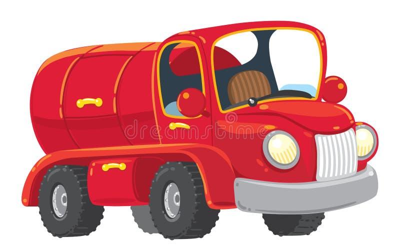 Смешная красная стар-введенная в моду автоцистерна иллюстрация штока