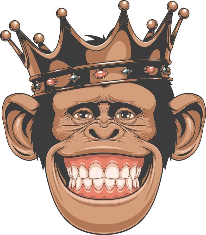 Смешная крона обезьяны иллюстрация штока