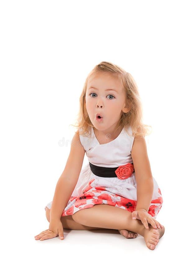Смешная маленькая девочка стоковое изображение