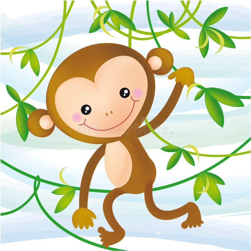 смешная обезьяна иллюстрация вектора