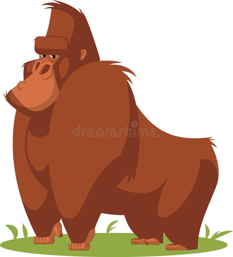 смешная обезьяна иллюстрация штока