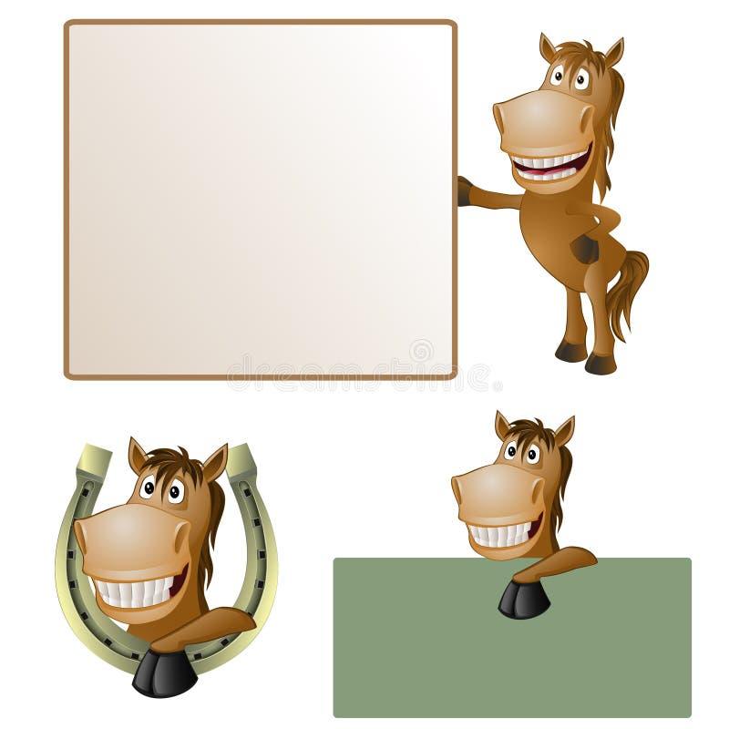Смешная лошадь бесплатная иллюстрация