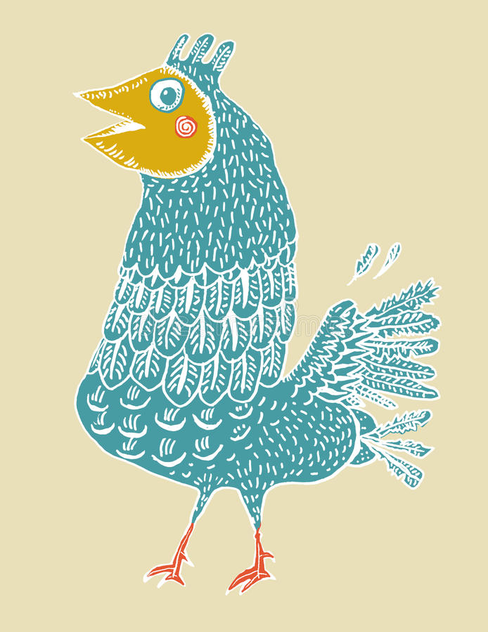 Смешная пташка (вектор) Стоковые Фотографии RF