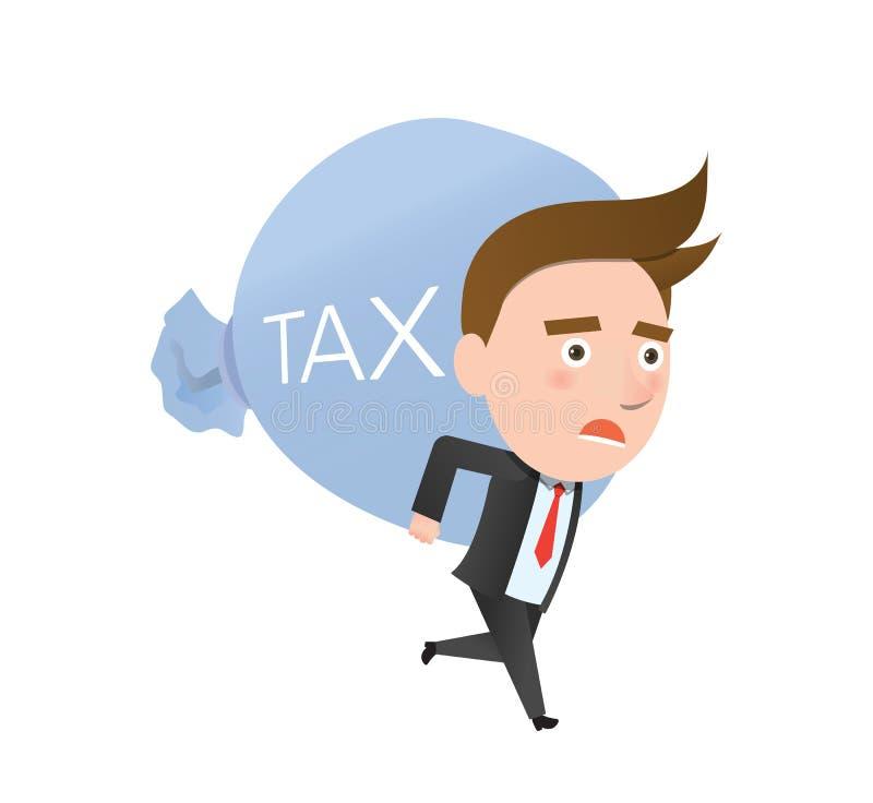 Смешная плоская концепция дела высокого налога характера бесплатная иллюстрация