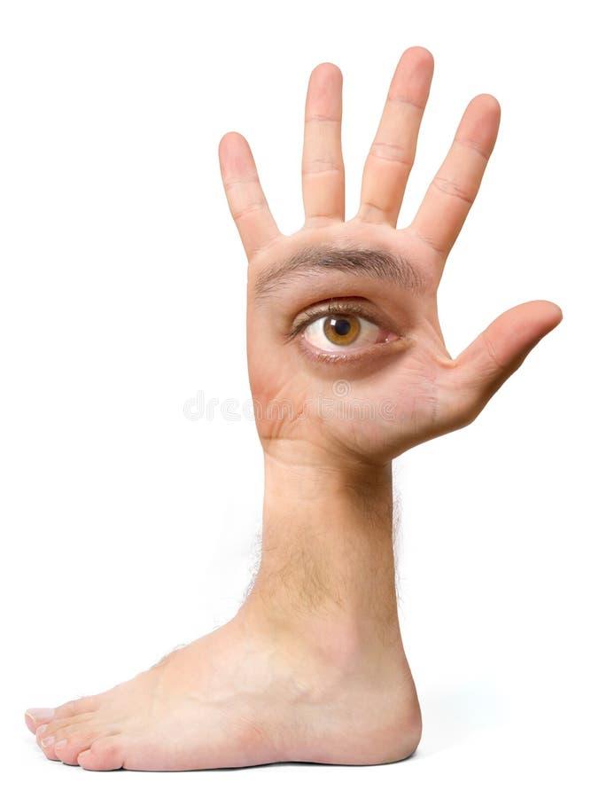 смешная рука стоковая фотография rf