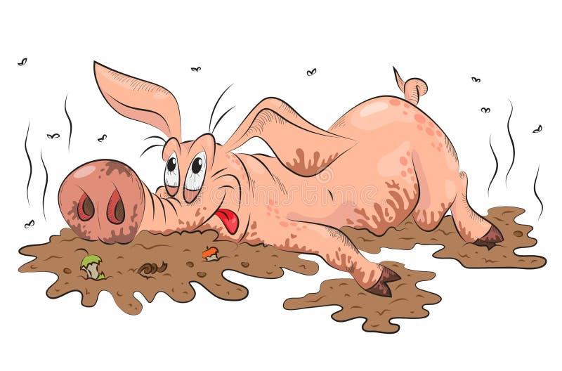 смешная свинья иллюстрация вектора