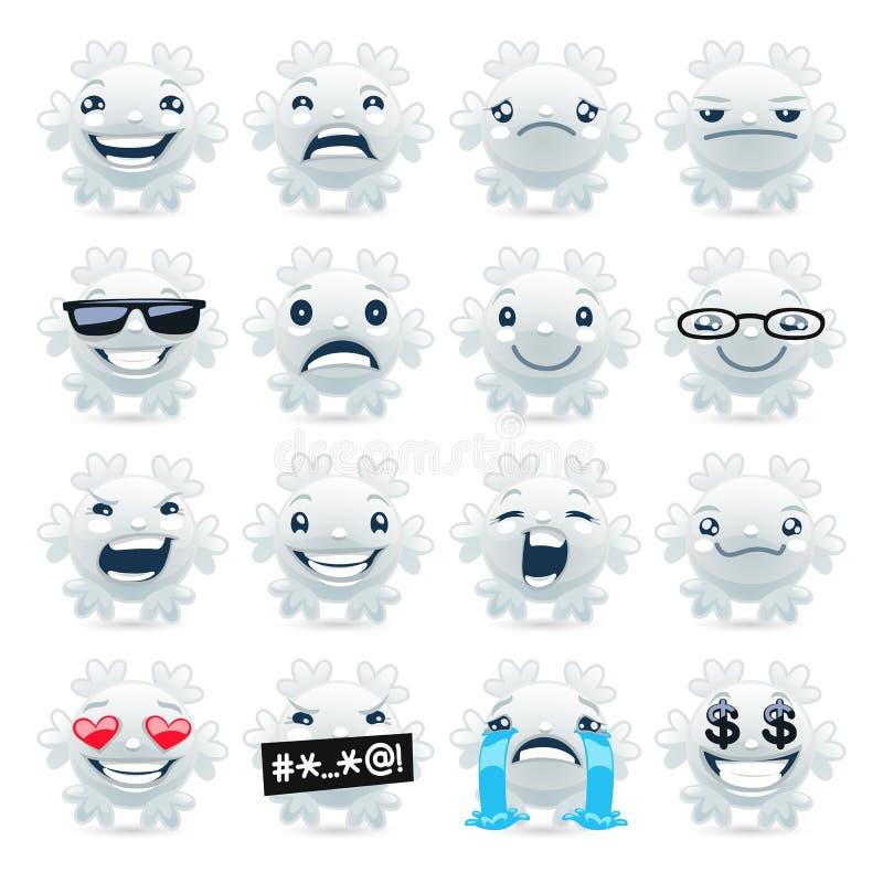 Смешная снежинка Emojis бесплатная иллюстрация