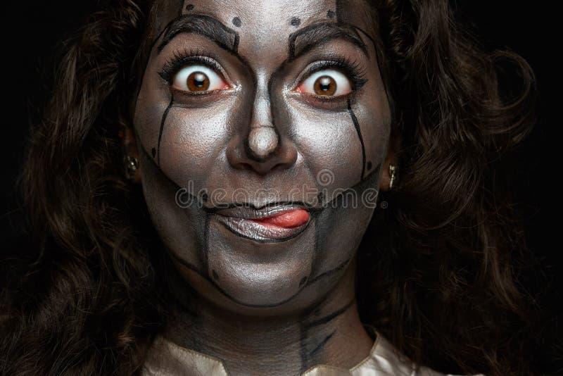 Смешная сторона женщин стоковое изображение