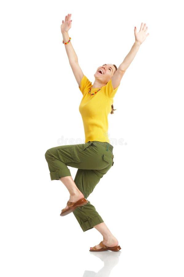 смешная счастливая женщина стоковое изображение