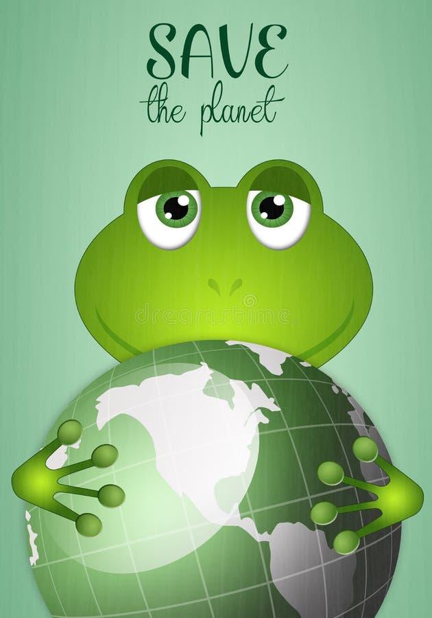 Смешная лягушка с глауконитом бесплатная иллюстрация