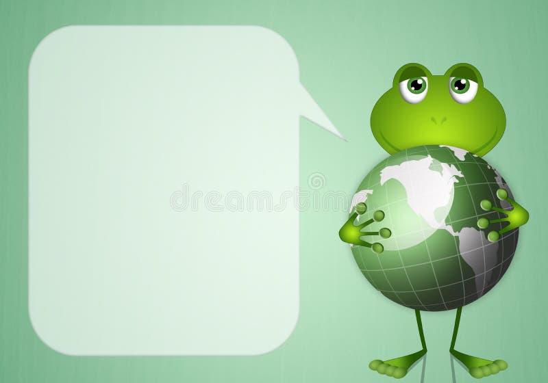Смешная лягушка с глауконитом иллюстрация штока