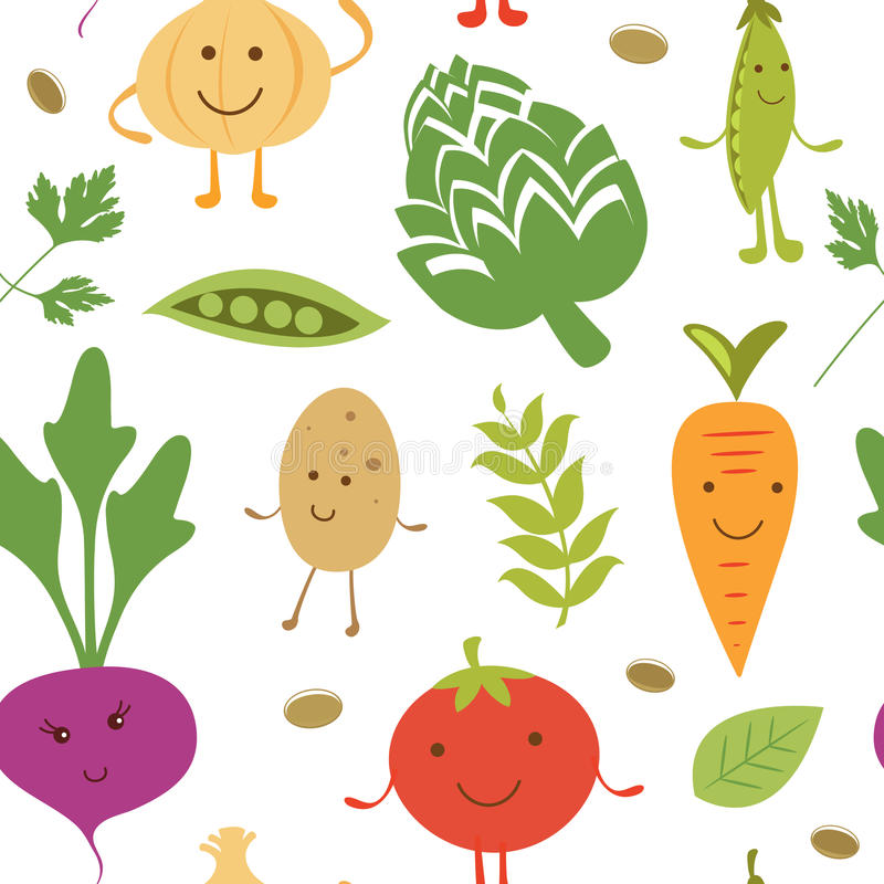 Смешная vegetable картина характеров иллюстрация штока
