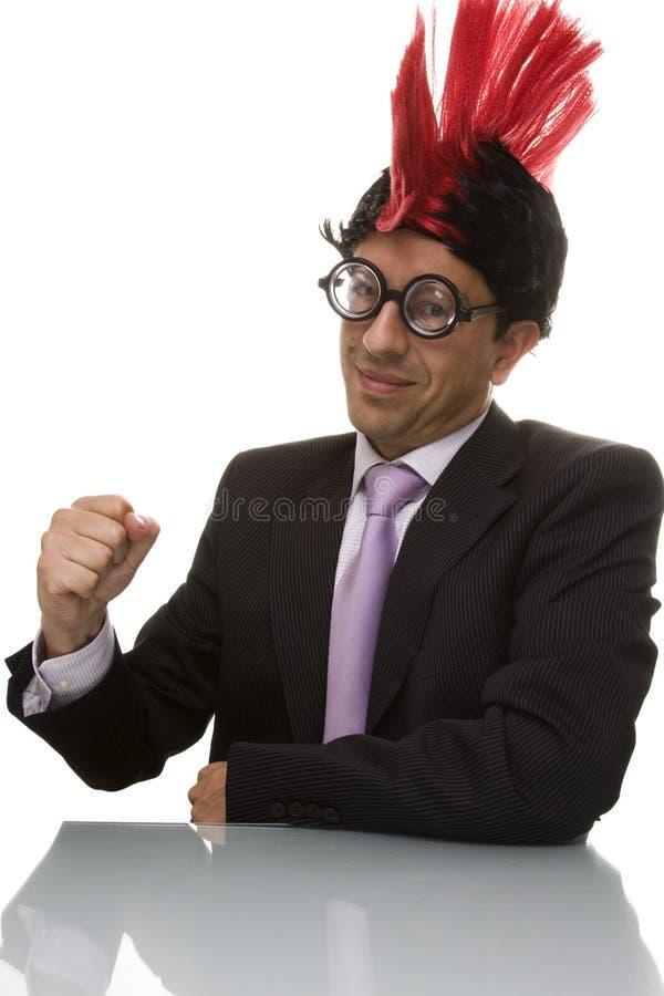 смешное бизнесмена уверенно стоковое изображение rf
