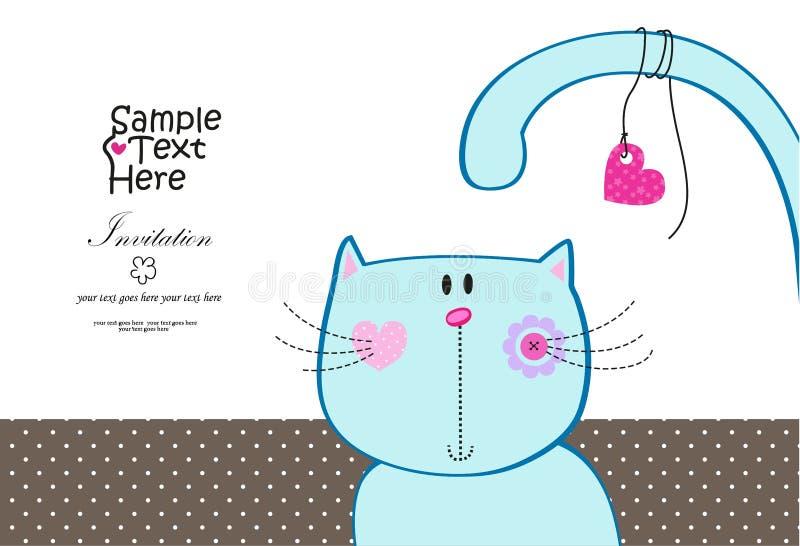 смешное кота милое иллюстрация вектора