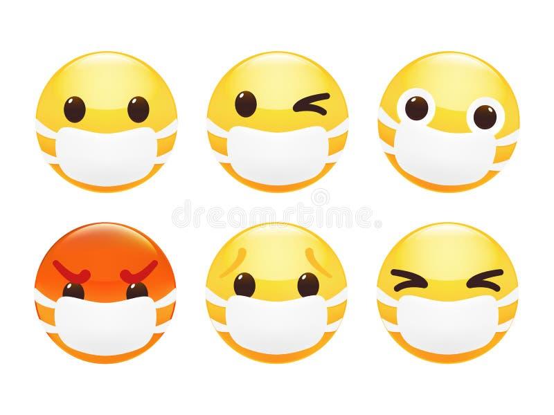 Смешное лицо с счастливой улыбкой Иллюстрация вектора Premium иллюстрация штока