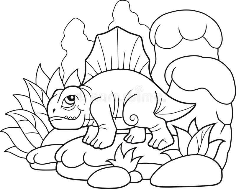 Смешное Dimetrodon, смешное изображение бесплатная иллюстрация