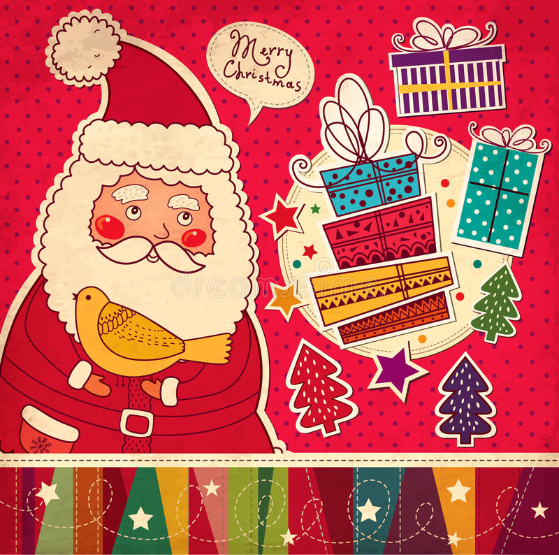 Смешное Santa Claus иллюстрация штока