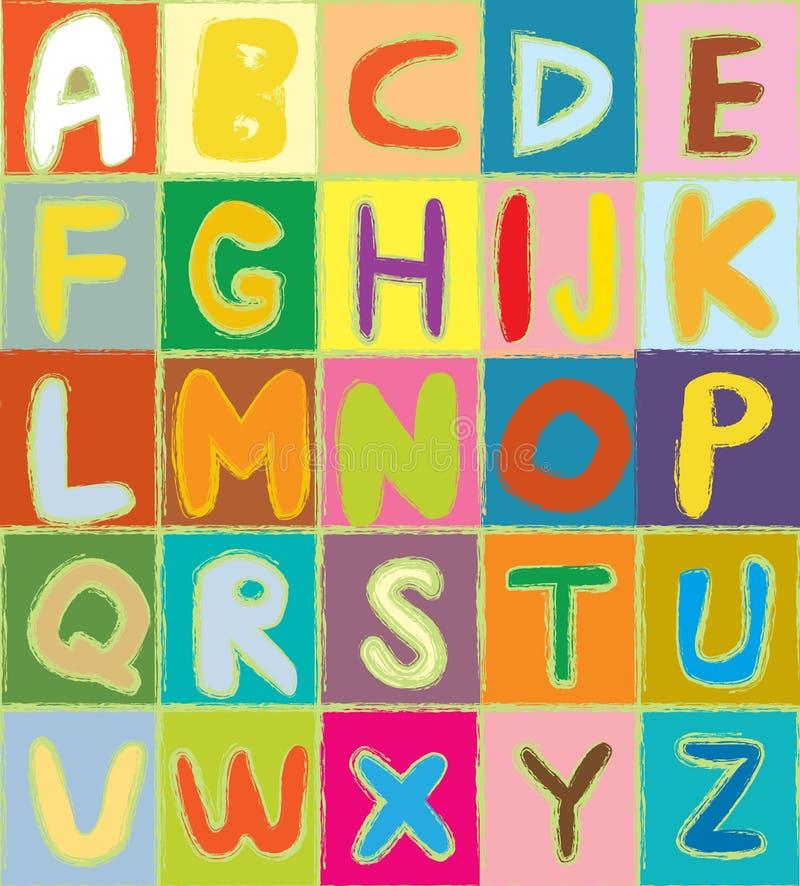 Смешной алфавит бесплатная иллюстрация