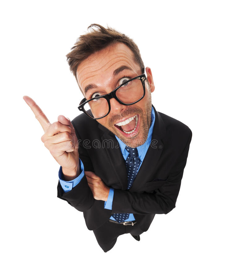 Download Смешной бизнесмен стоковое изображение. изображение насчитывающей от - 33725363