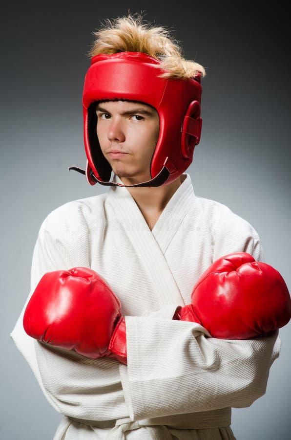 Смешной боксер против стоковое фото rf
