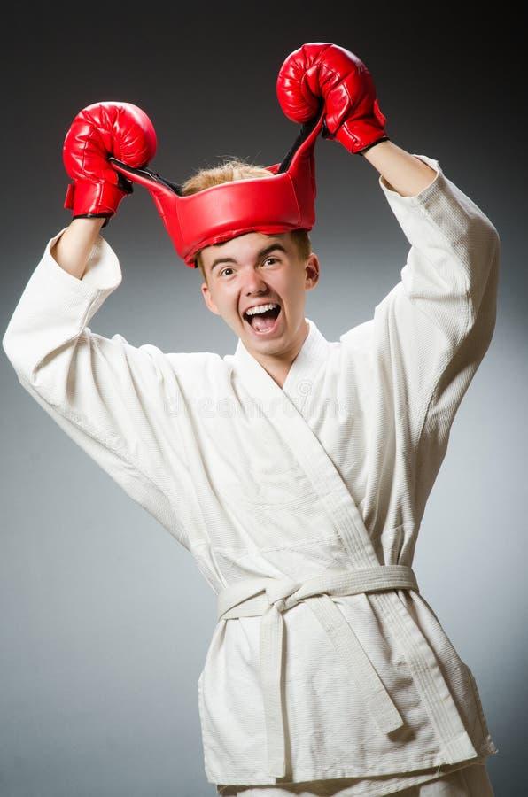 Смешной боксер против стоковая фотография