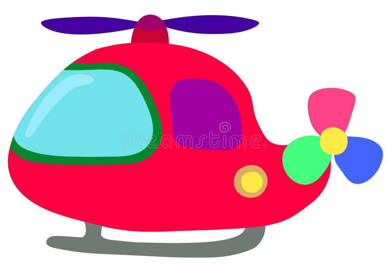 Смешной вертолет для детей иллюстрация вектора