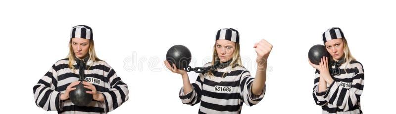 Смешной воспитанник тюрьмы в концепции стоковая фотография