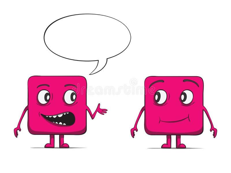 Смешной говорить парней куба. Квадратные характеры. бесплатная иллюстрация