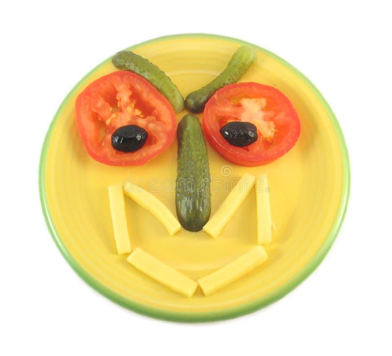 смешной головной салат стоковые фото