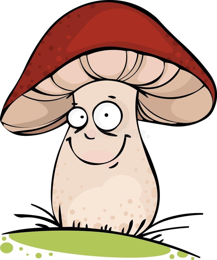 смешной гриб бесплатная иллюстрация