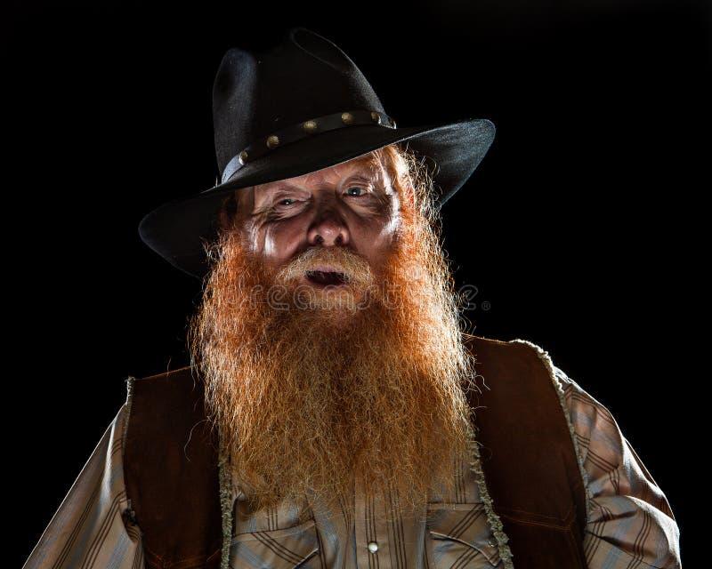 Смешной ковбой человека стоковая фотография rf
