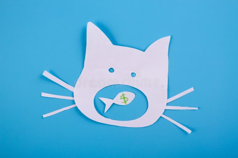 смешной кот мультфильма стоковое изображение rf