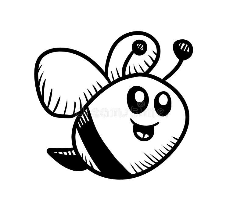 Смешной малый Doodle пчелы бесплатная иллюстрация