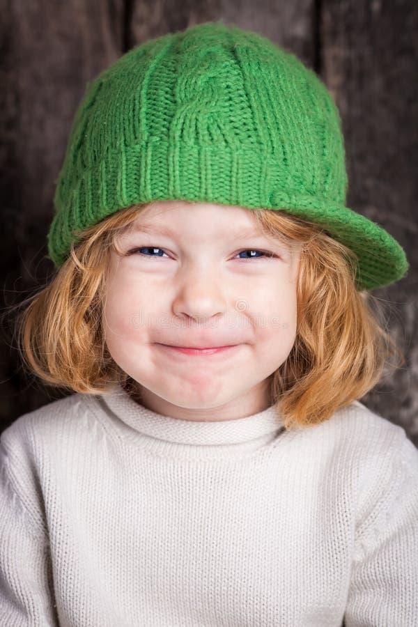 смешной малыш имбиря стоковое изображение