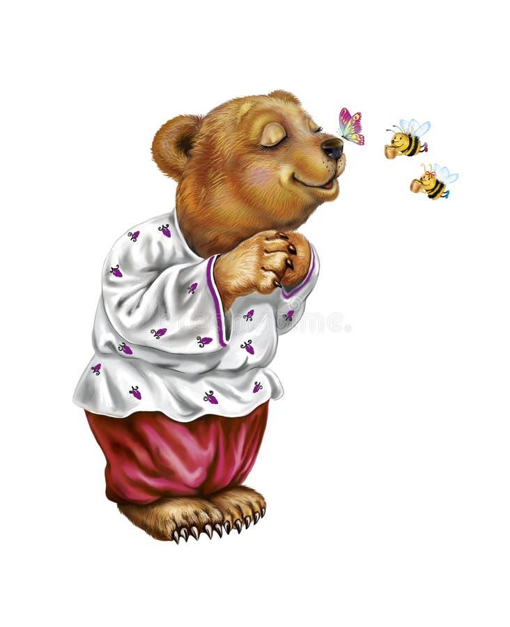 Смешной медведь иллюстрация вектора