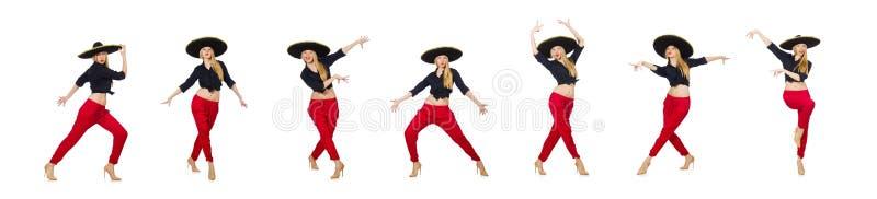 Смешной мексиканец со шляпой sombrero стоковые изображения