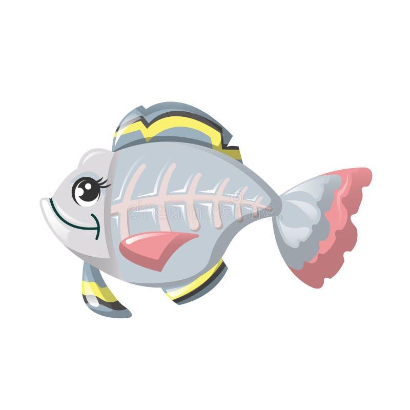 Смешной морской житель глубоководья Рыбы рентгенизируют, милые животные бесплатная иллюстрация