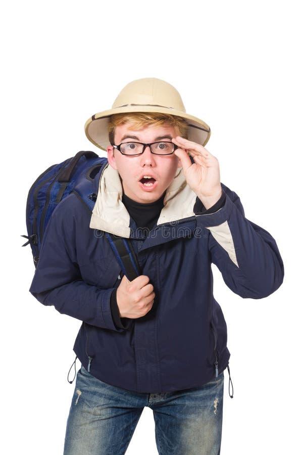 Смешной носить студента стоковое изображение