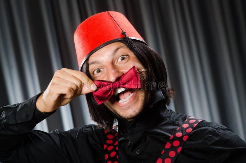 Смешной носить человека стоковое изображение