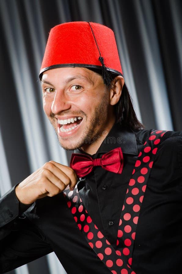 Смешной носить человека стоковое изображение rf