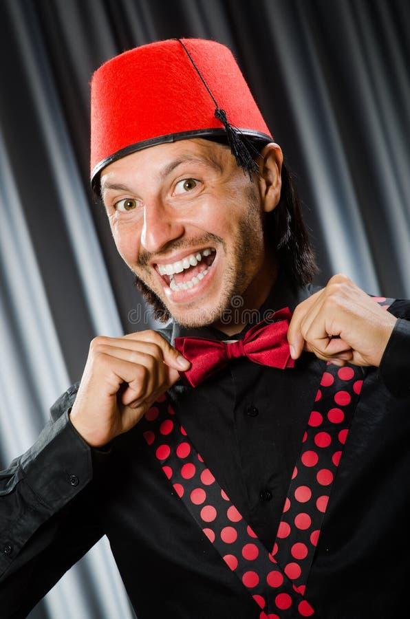Смешной носить человека стоковые фотографии rf
