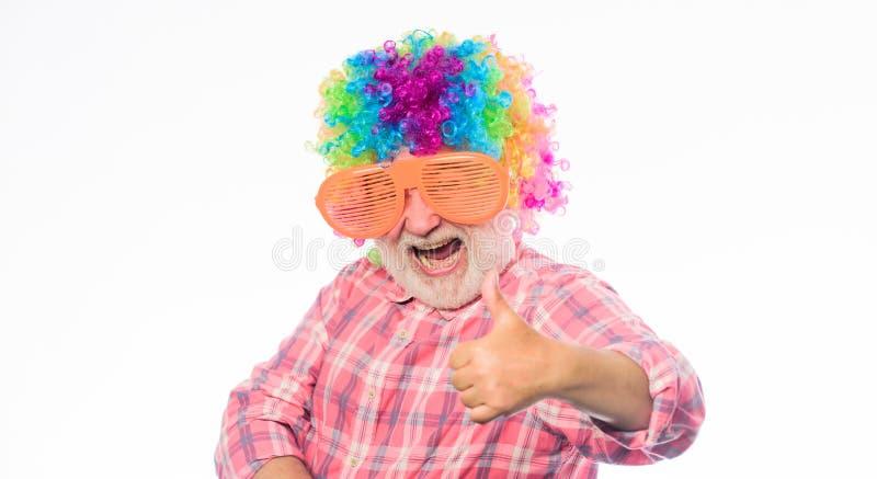 Смешной образ жизни r Шуточная концепция деда Славная шутка Grandpa потеха всегда Бородатое человека старшее стоковые изображения rf