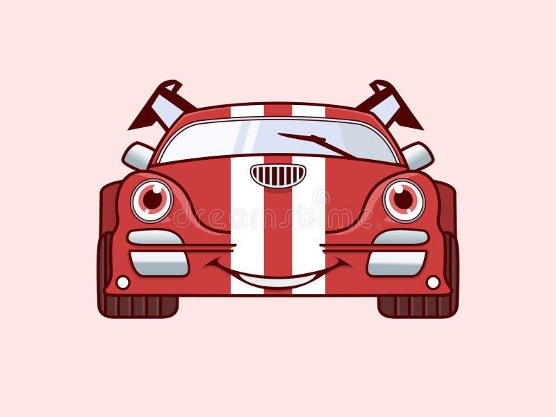 Смешной логотип автомобилей стоковое изображение rf