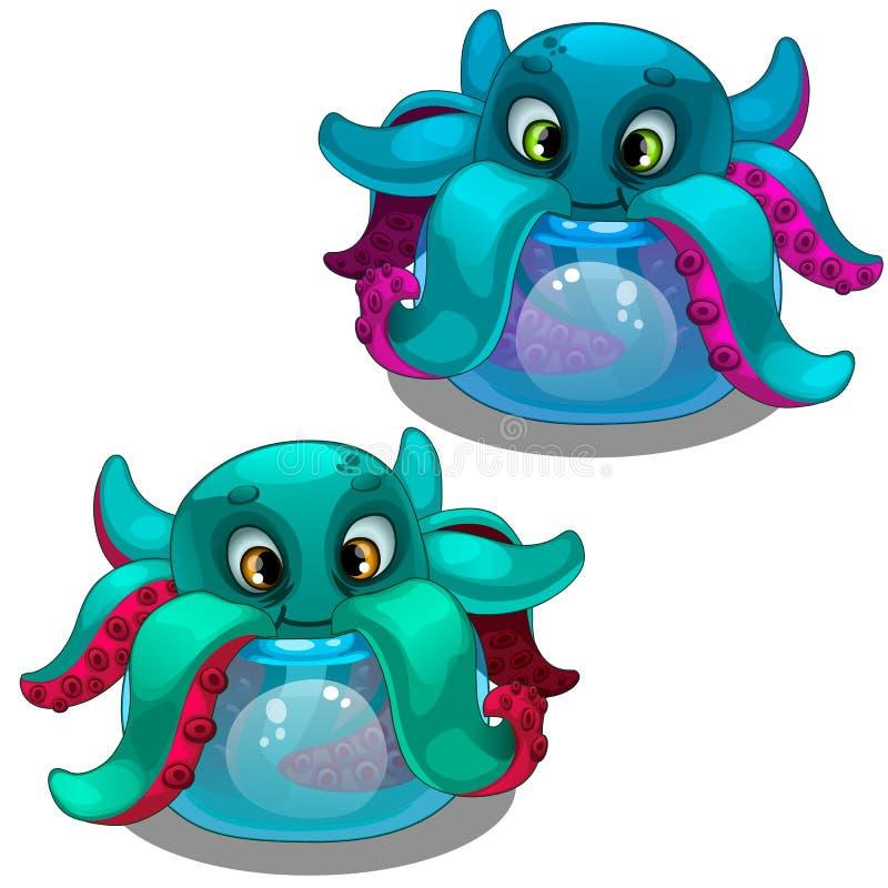 Смешной осьминог от аквариума Тварь моря бесплатная иллюстрация