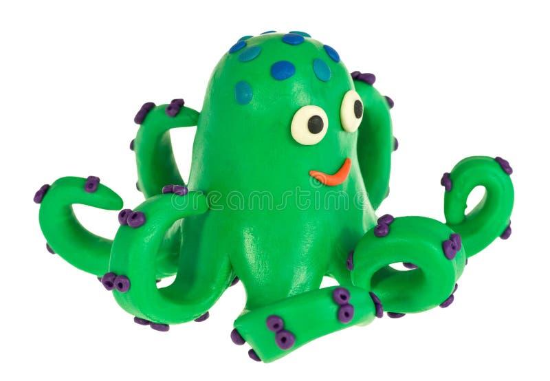 Смешной осьминог пластилина стоковая фотография
